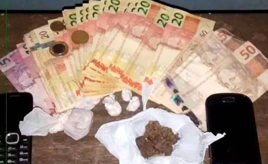 PM apreende drogas e prende 3 pessoas suspeitas de tráfico em Piracanjuba