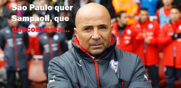 Pretendido pelo SPFC, Sampaoli diz que foco é a Copa America, com o Chile
