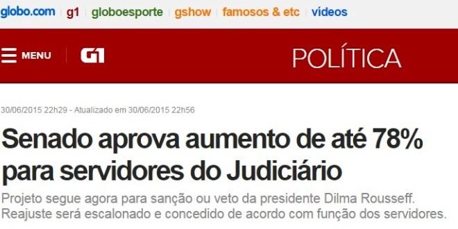 Quase 100% de aumento salarial para judiciário e impacto de R$ 25 bilhões no orçamento