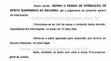 TJ/GO concede nova decisão suspendendo liminar que anulava sessão do dia 02/09