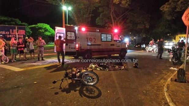 SAMU socorre uma das mulheres ao Hospital Municipal de Morrinhos