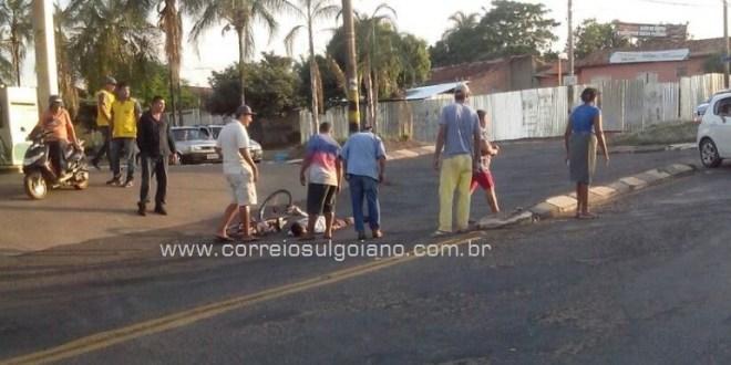 Corpo de Bombeiros é acionado para socorrer homem que caiu da bicicleta
