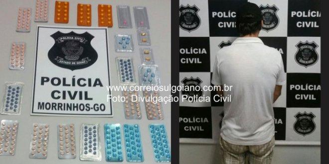 GUARDA DO FORUM: Homem é preso vendendo medicamentos sem autorização, em Morrinhos