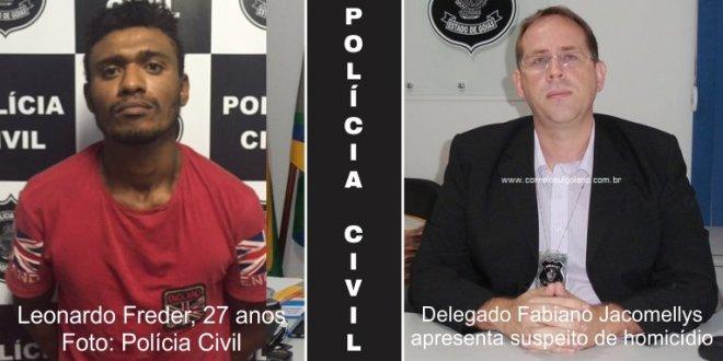 Polícia Civil apresenta suspeito de praticar homicídio em Morrinhos
