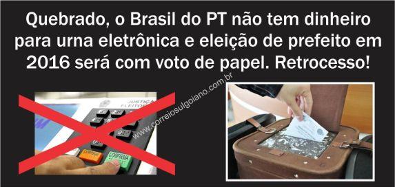 Brasil não terá dinheiro para eleição eletrônica! Será?