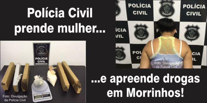 Polícia Civil apreende mais de 6 Kg de maconha em Morrinhos. Mulher é presa!