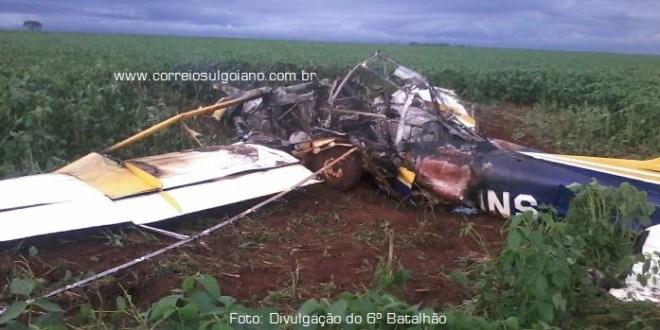 Avião cai e provoca morte de dois homens em Bom Jesus