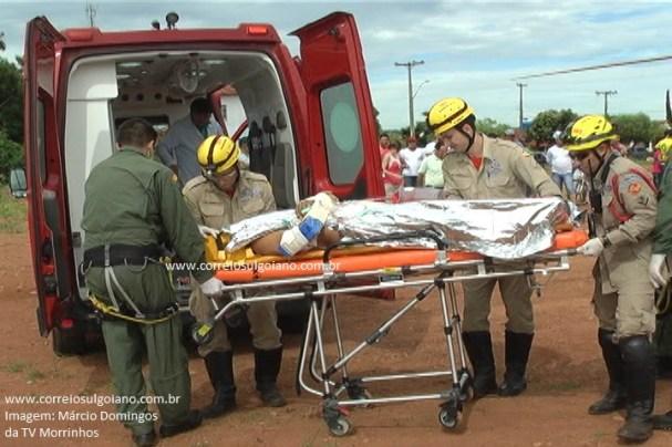 Equipe retorna com vítima, que não resistiu aos ferimentos