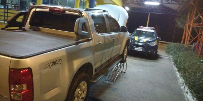 """Em Morrinhos, PRF identifica carro """"dublê"""" ou """"clonado"""" e detém condutor. Foi no Posto PRF do Rancho Alegre"""