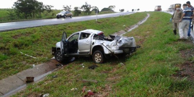 BR-153: Após saída de pista e capotamento homem de 93 anos morre em Morrinhos