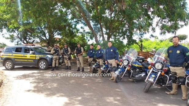 Polícia Rodoviária Federal participa da Operação Esfacela - em Morrinhos