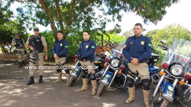 PRF na Operação Esfacela - em Morrinhos