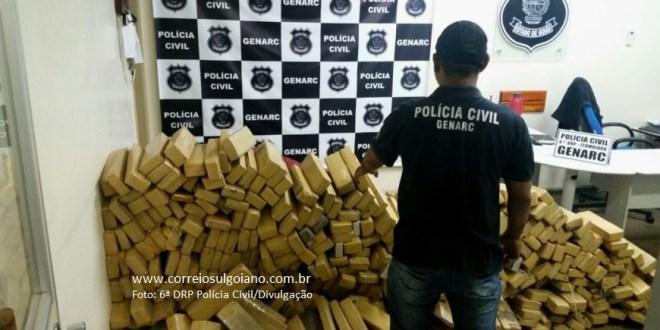 GENARC apreende uma tonelada de maconha que seria distribuída no sul de Goiás