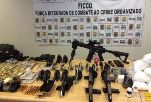 Armas apreendidas em Uberlândia-MG