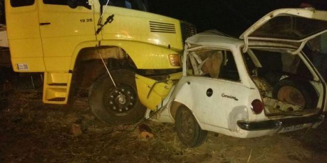 GO-215, acidente e morte em Pontalina! Carro colide com caminhão e condutor do carro morre!