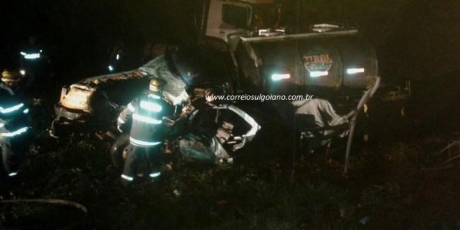 Morte na rodovia: Motorista morre após colisão frontal na GO-147 em Piracanjuba saída para Morrinhos