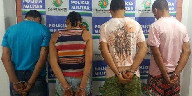 Polícia Militar identifica suspeitos de matar vacas no pasto e furtar a carne dos animais, em Morrinhos