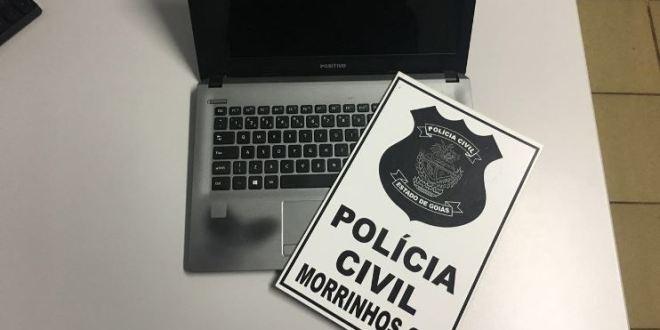 Policiais Civis de Morrinhos recuperam notebook furtado e identificam possível receptador do aparelho