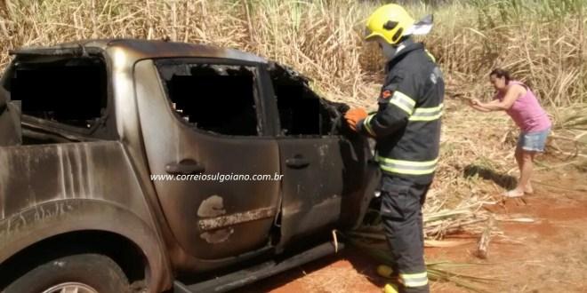 Capotamento, fogo e morte: Uma tragédia na manhã de sábado. Jovem condutor morreu em acidente!