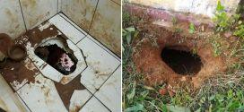 Presos quebram privada do banheiro, cavam túnel e fogem pelo buraco do sanitário em Itapuranga