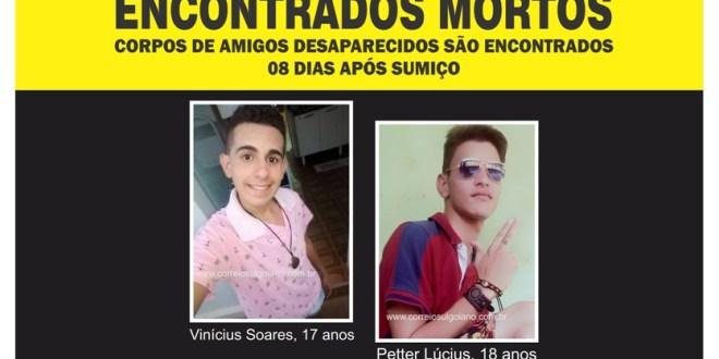 Amigos desaparecidos são encontrados mortos, oito dias após sumiço. Polícia Civil investiga os homicídios!