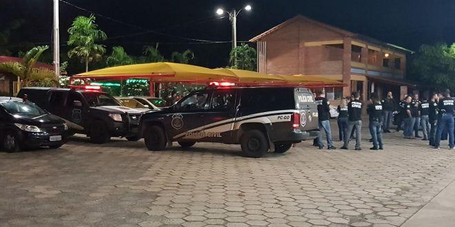 Polícia Civil faz ação em Goiatuba, Morrinhos, Pontalina, Caldas Novas e cumpre 75 mandados de prisão e apreensão