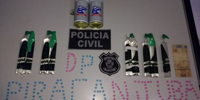 Polícia Civil apreende entorpecentes que seriam comercializados no carnaval, em Piracanjuba e região. Casal foi preso!