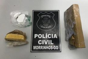 Homem é preso em Morrinhos suspeito de tráfico. Delegado diz que droga apreendida era de alta qualidade