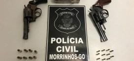 Polícia Civil prende suspeito de tráfico de drogas em Morrinhos, apreende duas armas e maconha!