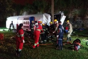 02 mortes e 41 feridos em acidente com ônibus clandestino, em Goiânia – informou a Polícia Rodoviária Federal