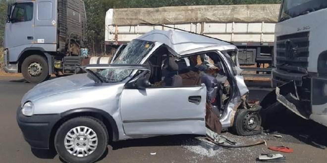 Acidentes deixam feridos e mortos em um final de semana violento nas rodovias federais e estaduais em Goiás