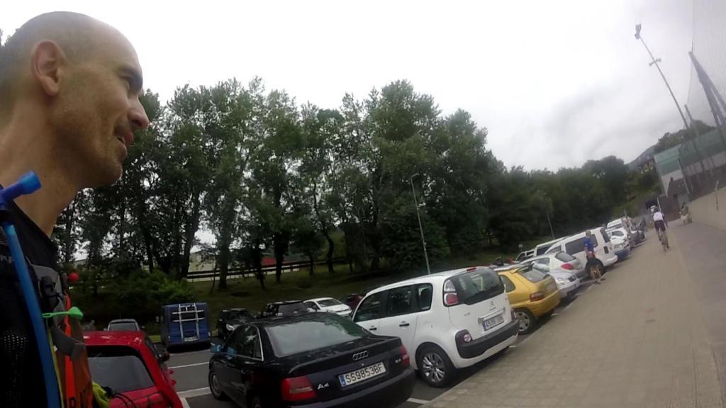 Ehunmilak llegada al avituallamiento de Tolosa
