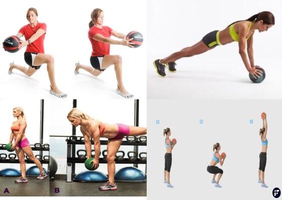 Exercicios com bola medicinal