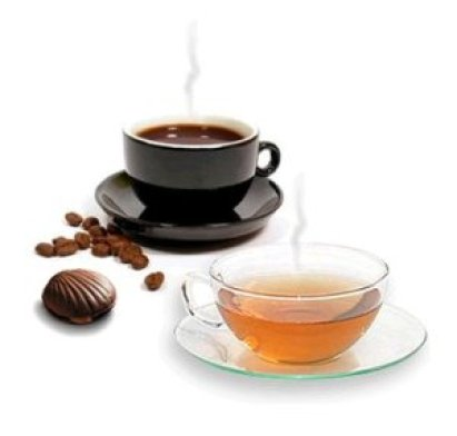 Chá de chocolate e cafeína
