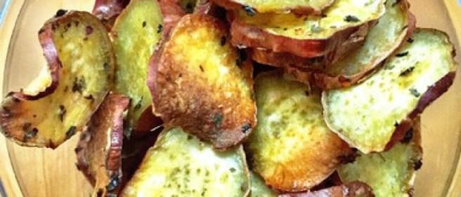 rodelas de batata doce