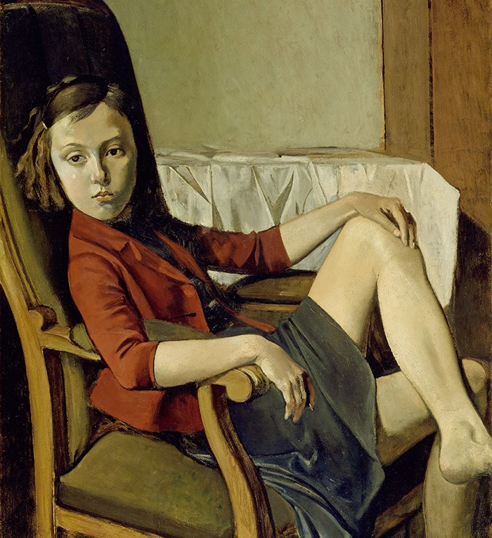 "Balthus, ""Thérèse"" (1938).© Balthus. Photo: The Metropolitan Museum of Art/Art Resource/Scala, Florence"