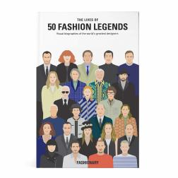 """The Lives of 50 Fashion Legends"", da editora Fashionary"