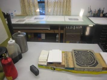 kk+mob proofing stone on table