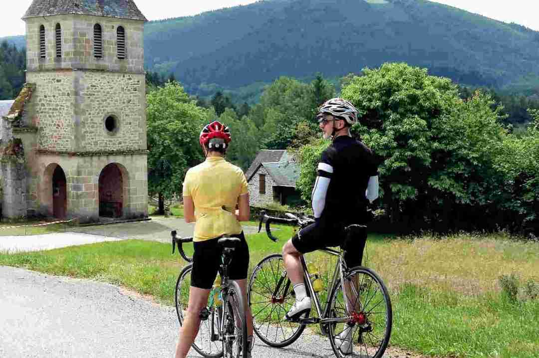 Correze Cycling Holidays France - Treignac Correze France on bike