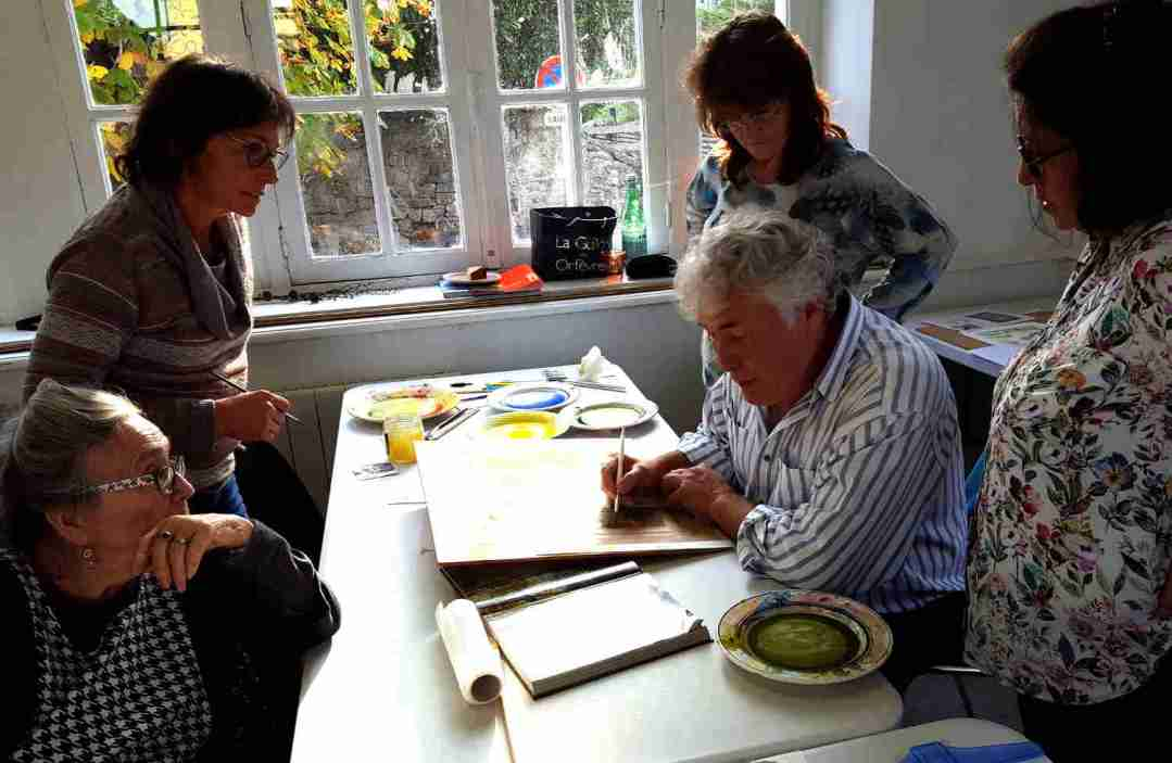 Art Classes at Correze Cycling Holidays in France