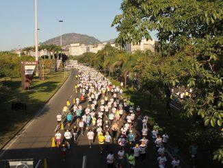 Participantes da Corrida e Caminhada Contra o Câncer - Move For Cancer no Rio. Foto de Midia Sport