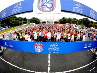 Largada da Maratona de São Paulo em 2019. (Divulgação)