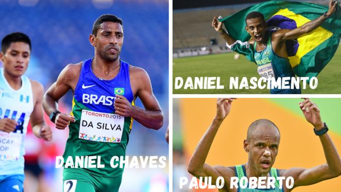 Os três maratonistas do Brasil nas Olimpíadas de Tóquio. (Fotos de Wagner Carmo:CBAt:Divulgação)