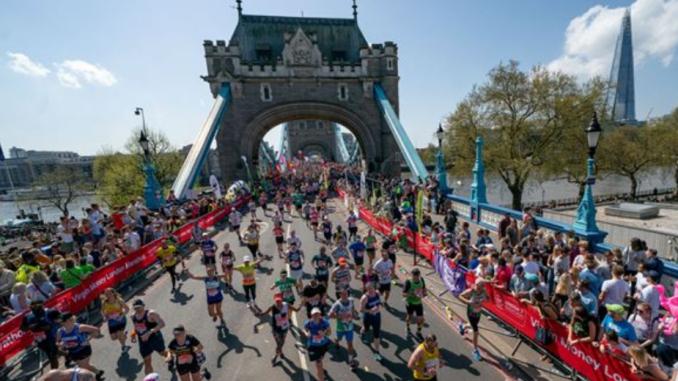 Maratona de Londres acontece neste domingo. (Divulgação)
