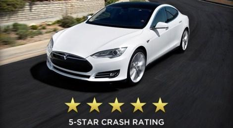 Tesla Modello S a 5 stelle per la sicurezza