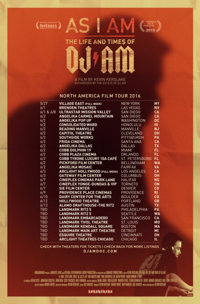 AS I AM Tour Poster