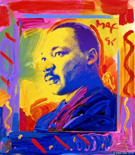 Iconic MLK Images Painted by Pop Artist Peter Max
