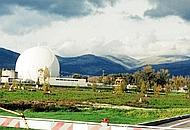 La sfera all'interno del quale era situato il reattore della centrale