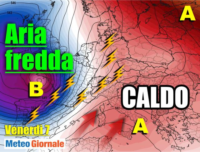 immagine 1 articolo meteo 7 giorni caldo africano sud e temporali al nord