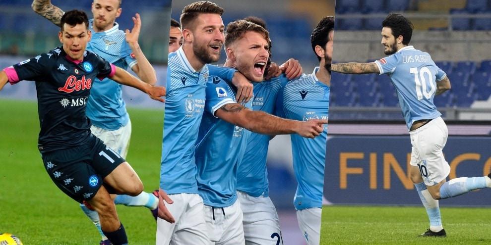 Immobile e Luis Alberto, la Lazio va: Napoli battuto 2-0